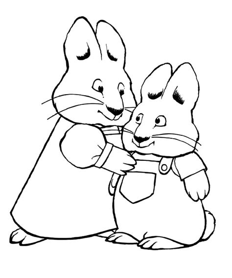 Max And Ruby Coloring Pages Bestofcoloring Com Max Ruby Coloring