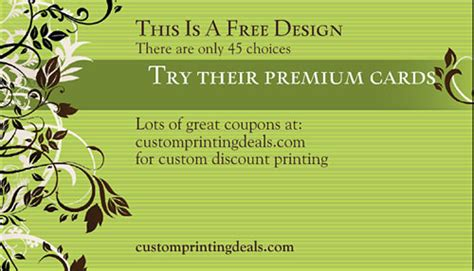 vistaprint template business card vistaprint free business cards 500 for 10 is better