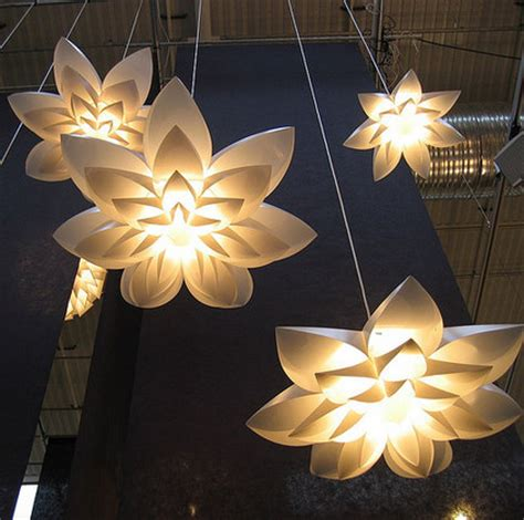 Lotus Flower Pendant Light Aliexpress Buy Flower L Pendant Light Pp Shade Diameter 55 70 85cm Lotus Lshape