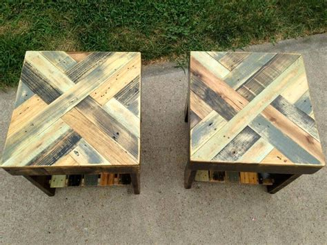 pallet wood end table diy pallet end tables