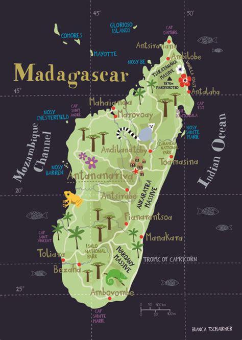 madagascar illustrated map madagascar map