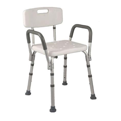sedie per doccia anziani sedia doccia con schienale e braccioli estraibili ausili