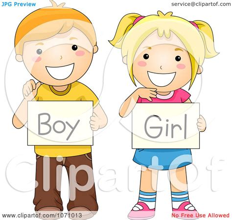 Spanish Bathroom Design by Clipart Children Holding Boy And Gender Signs