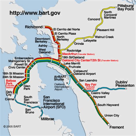 bart station map scope and schedule your passport to complaining
