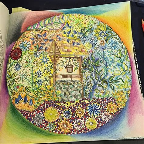 secret garden colouring book instagram 17 best images about coloring wishing well on
