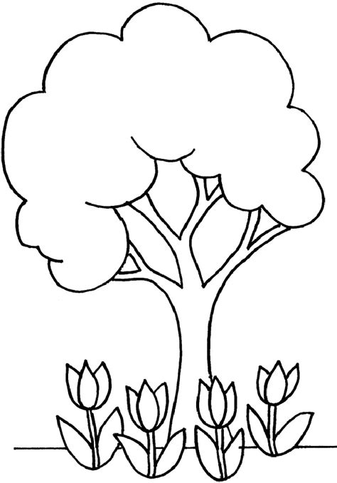 free coloring pages of trees and flowers coloring pages tree az coloring pages