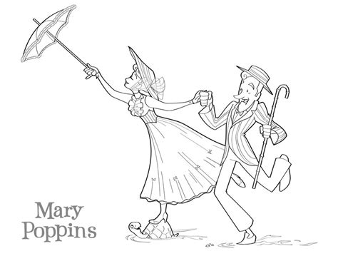 mary poppins coloring pages az coloring pages