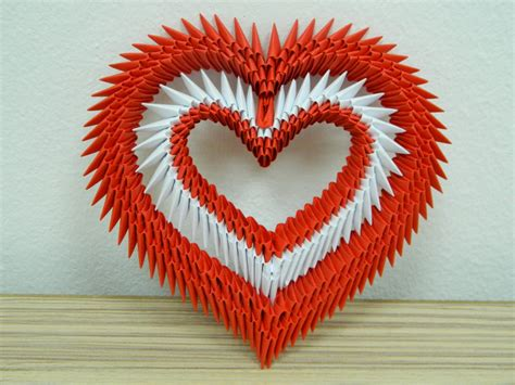 Mini Origami Hearts - pin mini origami 3d on