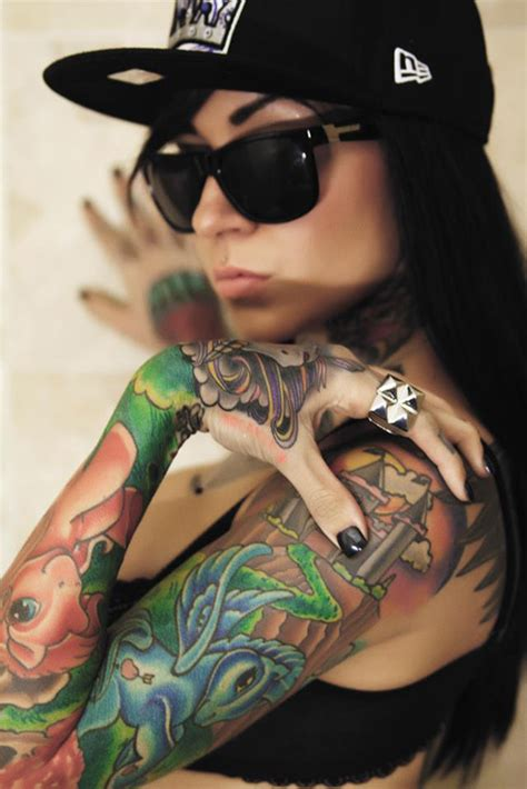 tattoo for my girl tattoo dope girl of the day ii colored sleeve prolifik one