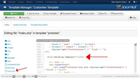 how to edit a joomla 3 template inmotion hosting