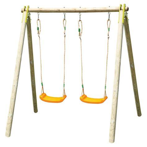 double swing for swing set trigano jardin alfy double swing set all round fun