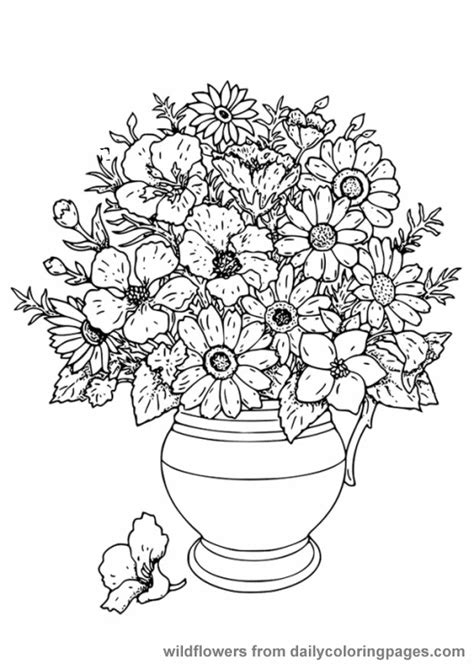 Advanced Flower Coloring Pages Flower Coloring Page Advanced Coloring Pages