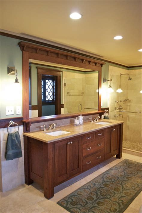 vanity craftsman bathroom new york by carisa
