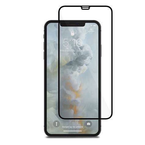 iphone xs max screen protector shop screen protector black ionglass by moshi