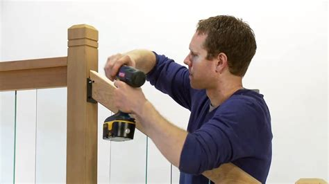 how to install a rail simple clearview stair railing kit