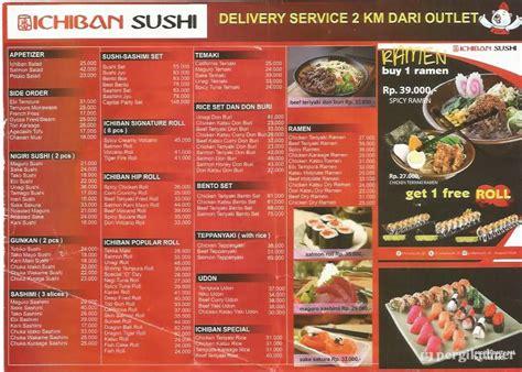 harga menu ichiban sushi terbaru  lengkap