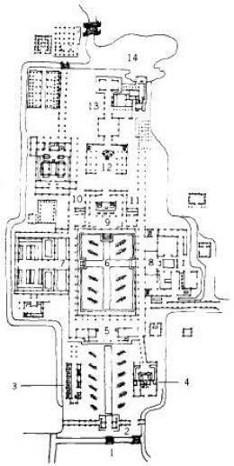 Plan du Kencho-ji (temple zen de l'école Rinzai), état de