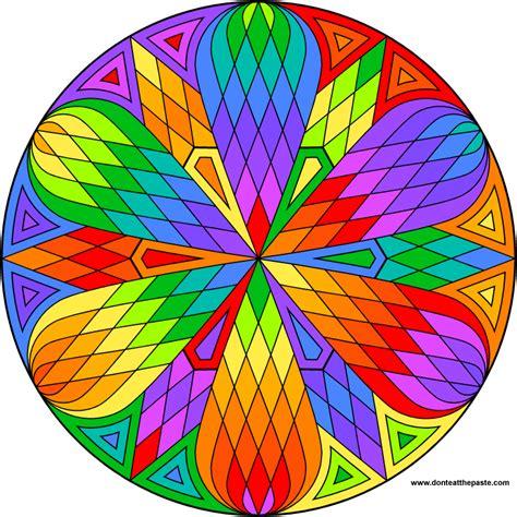 colored mandalas don t eat the paste lattice mandala to color