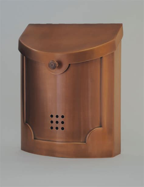 modern wall mounted mailbox ecco mailboxes e4cp wall mounted copper plated modern