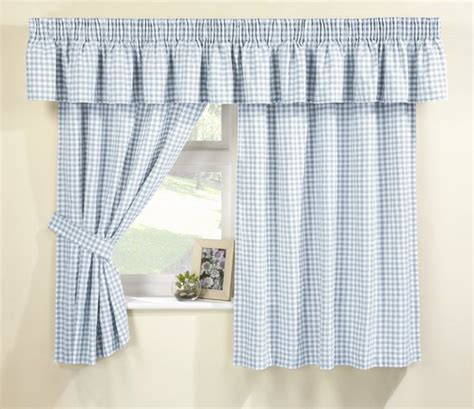 blue gingham kitchen curtains connollys homestyle york