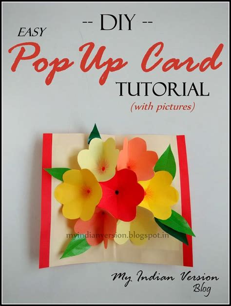 How To Make Easy Pop Up Birthday Cards 1000 Ideas About Pop Up Card On Pinterest Pop Up Popup