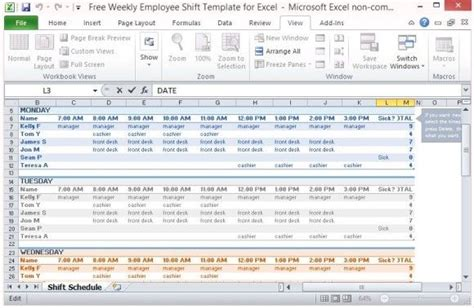 Multiple Employee Work Schedule Template Dental Office Ideas Pinterest Schedule Templates Employee Schedule Template