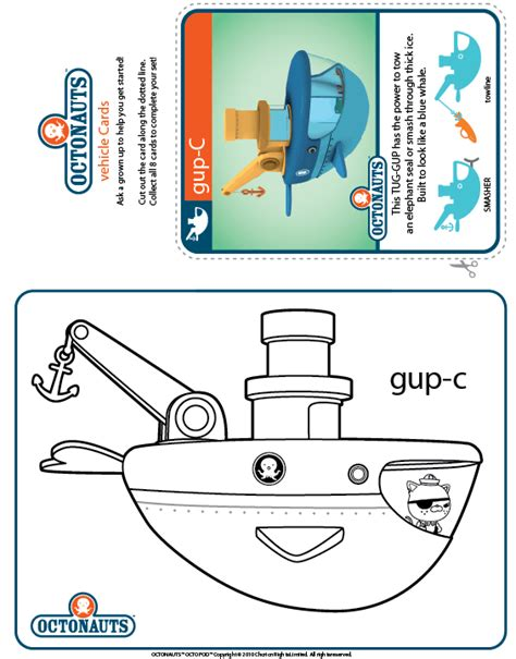 Gup C Coloring Page free coloring pages of gup d octonauts
