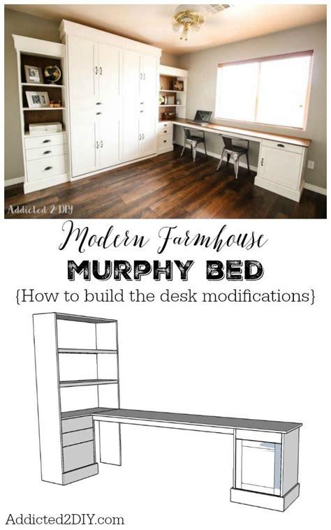 how to build a murphy bed diy modern farmhouse murphy bed how to build the desk
