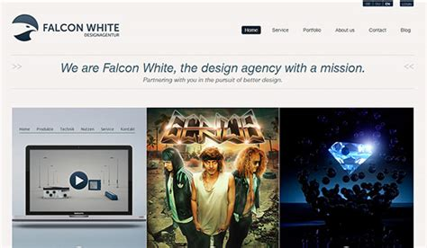 falcon studios mobile 60 engaging exles of website design with a grid style