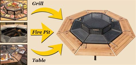 build pit grill table ultimate family bbq well done stuff