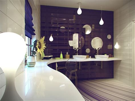 Purple And White Bathroom Jalan Rumah Excellent Small Contemporary Bathroom Ideas
