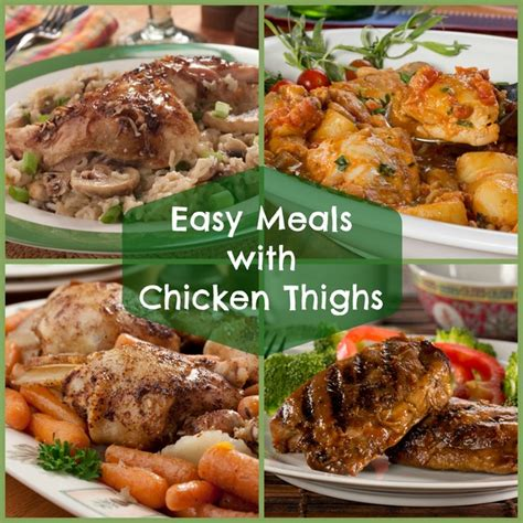 6 easy meals with chicken thighs mrfood com
