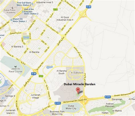 Location Of Garden Of by Detail Location Map Of Dubai Miracle Garden For Travelers