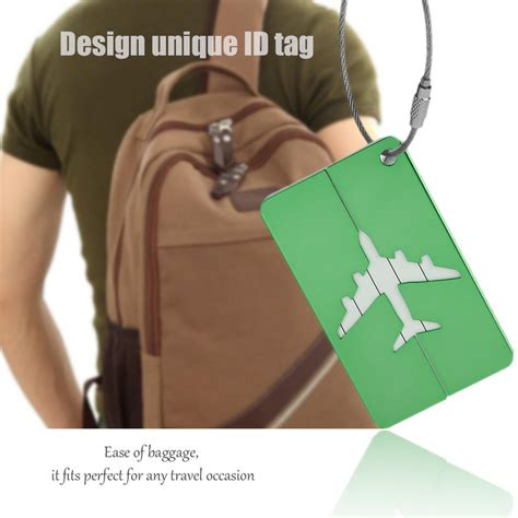 Luggage Tag Besar Penanda Koper Id Koper Suitcase Tag Tag Koper name tag id tas koper aluminium green jakartanotebook