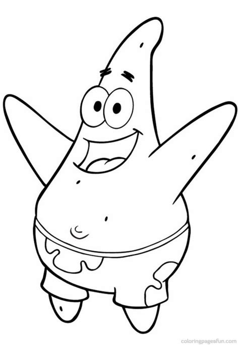 coloring pages of patrick star spongebob coloring pages spongebob patrick star coloring