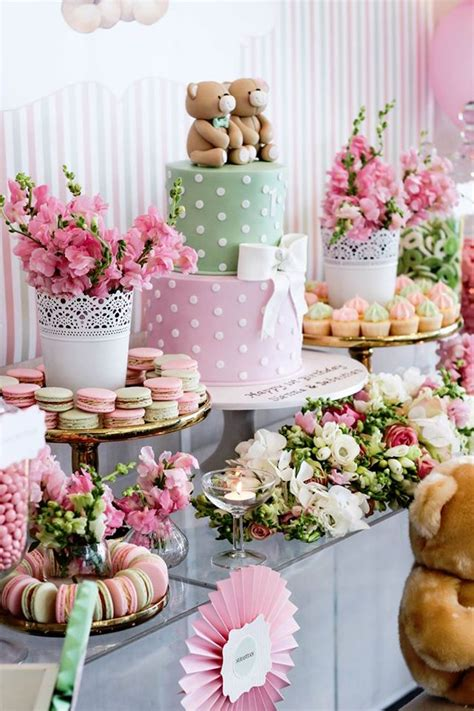 party table ideas sweet table from a teddybear forever friends birthday