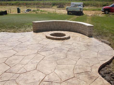 Concrete In Backyard by Sted Concrete Patio For Pleasure Amaza Design