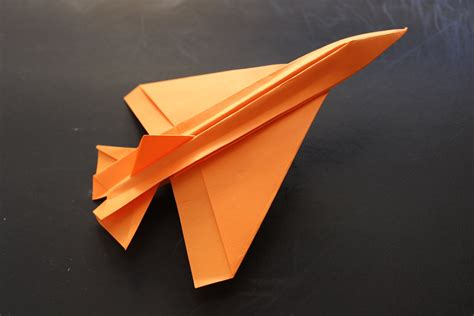 A Paper Jet - how to make a cool paper plane origami jet