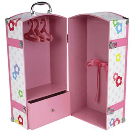 18 doll storage cyber monday 18 inch doll trunk 3 hangers for american