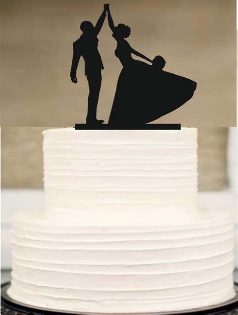 Topper Siluet Wedding Acrilik wedding cake topper silhouette wedding cake topper and groom wedding cake topper