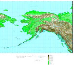 elevation map of alaska elevation map