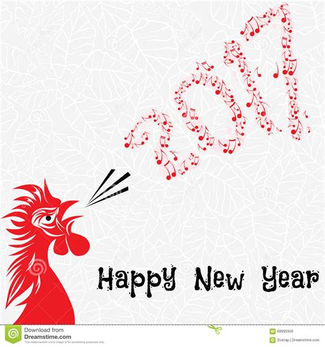 new year illustration rooster bird concept of new year of the rooster
