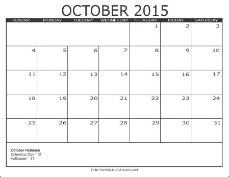 free printable planner october 2015 image gallery month of october calendar