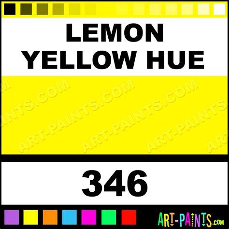 hues of yellow lemon yellow hue artist watercolor paints 346 lemon
