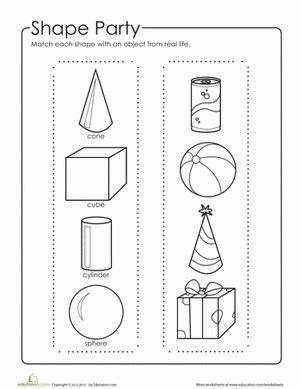printable 3d shapes games for kindergarten 3d geometric shapes worksheet education com