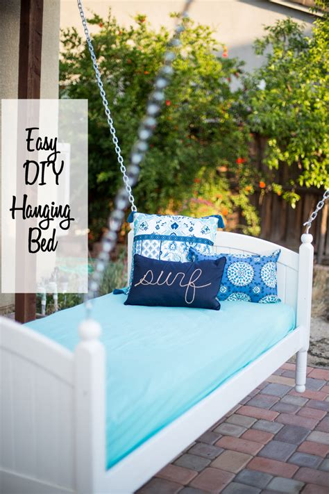 diy hanging bed easy diy hanging bed domestically speaking