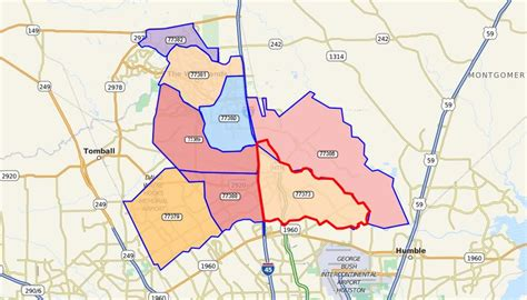 The Woodlands Zip Code Map by Spring Spring Market Watch Spring Texas