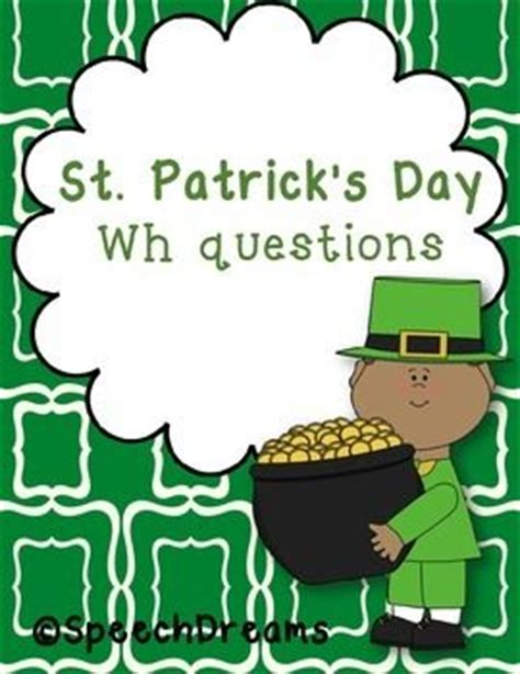 s day questions 19 best images about speech therapy st s day on