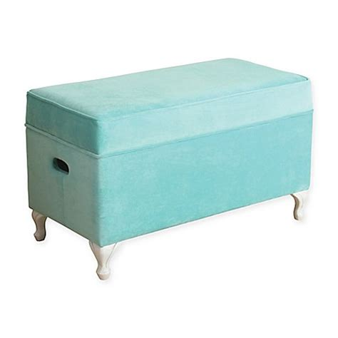 buy storage bench buy kinfine homepop diva storage bench in aqua from bed