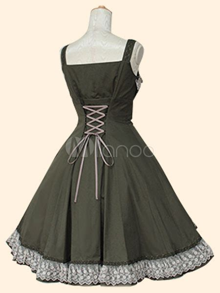 Jsk 3107 Size 27 30 Black sweet dress jsk two tone cotton jumper skirt milanoo
